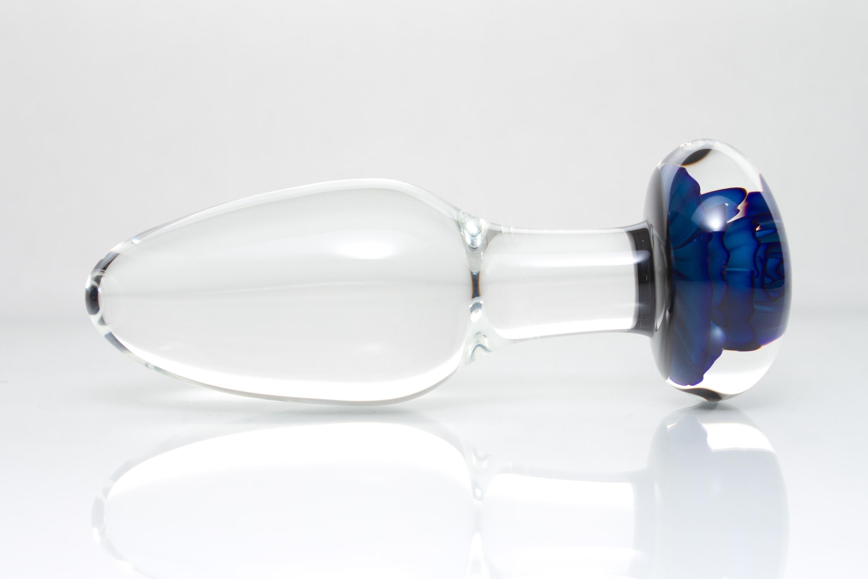 Glass butt plug